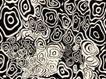 瓷器花纹0056,瓷器花纹,实用分层素材,圆圈 黑白色调 纹饰单一