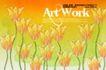 艺术海报0120,艺术海报,实用分层素材,丁香花  艺术  海报