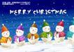 艺术海报0137,艺术海报,实用分层素材,雪人 冬天 雪景