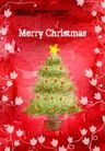 艺术海报0141,艺术海报,实用分层素材,圣诞树 黄五星 红色