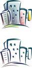 卡通物件0080,卡通物件,日韩盛典,楼房 卡通式样 简笔