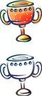 卡通物件0095,卡通物件,日韩盛典,杯子 两个耳朵 桔红色