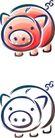卡通物件0097,卡通物件,日韩盛典,金猪 储钱罐 猪样子