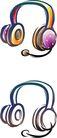 卡通物件0099,卡通物件,日韩盛典,耳机 紫红色 黑白色