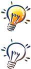 卡通物件0101,卡通物件,日韩盛典,灯泡 白灯 黄灯