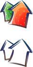 卡通物件0113,卡通物件,日韩盛典,箭头 红色 绿色