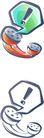 卡通物件0116,卡通物件,日韩盛典,话筒 感叹号 逗号