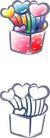 卡通物件0117,卡通物件,日韩盛典,盆子 心形 红色