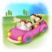 家庭0241,家庭,日韩盛典,方向盘 轮胎 粉红色