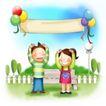 家庭0243,家庭,日韩盛典,公园 气球 长椅