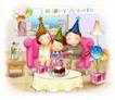 家庭0244,家庭,日韩盛典,生日 帽子 蛋糕