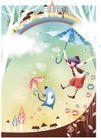 情人节0181,情人节,日韩盛典,童话世界 童话人物 撑伞