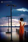 地产专家专辑20142,地产专家专辑2,地产专家,湖泊 阳台 红色长裙