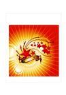 节日0008,节日,设计风云,五角星 闪亮点 中国红