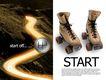 服装运动0006,服装运动,龙腾广告,旱冰鞋 运动鞋 道路