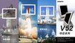 电子0012,电子,龙腾广告,白色方框 火箭 升空 大厦
