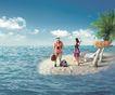移动电信0072,移动电信,龙腾广告,孤岛 淡蓝海水