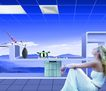 设计元素0047,设计元素,龙腾广告,仰头 坐卧 地板