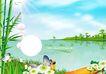 设计元素0069,设计元素,龙腾广告,蝴蝶 春天 竹子
