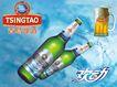 酒0064,酒,龙腾广告,青岛啤酒 酒杯 商标