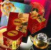 中秋月饼0092,中秋月饼,设计前沿封面包装,方柱形 四角平 红色花纹图