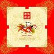 中秋月饼0117,中秋月饼,设计前沿封面包装,年画宝宝 连年有余 金鱼