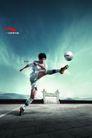 服装运动0042,服装运动,设计前沿封面包装,踢球 大脚 射门