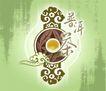茶包装0092,茶包装,设计前沿封面包装,一个圆圈 花纹 普洱