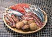 上盘海鲜0177,上盘海鲜,饮食水果,黑色 金鱼 鲤鱼