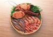 上盘海鲜0179,上盘海鲜,饮食水果,螃蟹 龙须 油炸