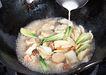 厨房料理0171,厨房料理,饮食水果,勾芡 炒菜 小白菜