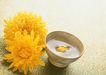 四季美食0181,四季美食,饮食水果,金菊 瓷碗