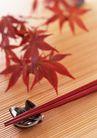 料理特写0178,料理特写,饮食水果,枫叶 秋天 筷套