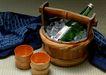 食物与器皿0178,食物与器皿,饮食水果,啤酒 竹桶 木头杯