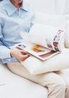 休闲居家0195,休闲居家,生活方式,看书 衬衣 抱枕