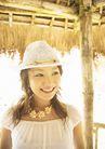 夏日少女海滩0162,夏日少女海滩,生活方式,头戴草帽