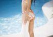 夏日泳装少女0172,夏日泳装少女,生活方式,转身 蓝色 姿势