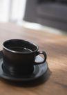 家居0191,家居,生活方式,黑色杯碟