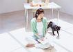 家有宠物0073,家有宠物,生活方式,家装 小黑狗 桌子