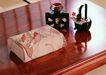 日式生活礼俗0179,日式生活礼俗,生活方式,手帕 礼物 干花