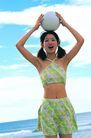 日韩俏佳人0294,日韩俏佳人,生活方式,绿色泳衣 头上的球 呐喊