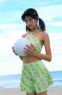 日韩俏佳人0295,日韩俏佳人,生活方式,双手抱球 生气 沙滩上
