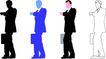 人物剪影0071,人物剪影,综合,商业人士 商务男人 看时间