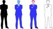 人物剪影0073,人物剪影,综合,蓝色 黑色 商业人物