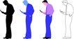 人物剪影0078,人物剪影,综合,手机 通讯工具 打电话