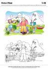 城乡景观0010,城乡景观,综合,卡通特色插画