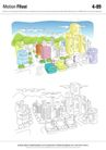 城乡景观0039,城乡景观,综合,彩图 绘图 线稿