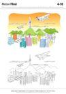 城乡景观0040,城乡景观,综合,飞机 天空 规划