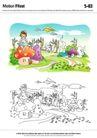 城乡景观0043,城乡景观,综合,纸飞机 小孩 白云