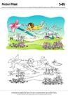 城乡景观0045,城乡景观,综合,风车 草地 花朵